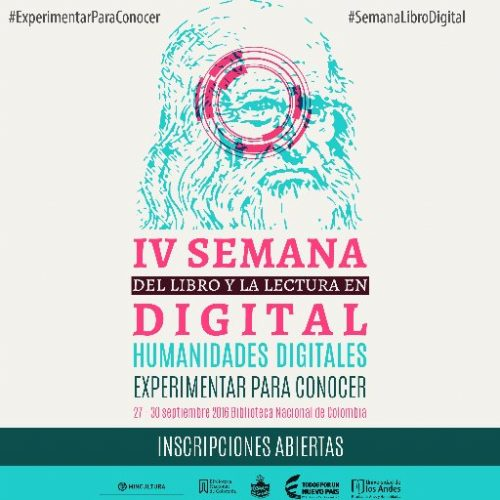 Affiche de la IV Semana del Libro Digital.