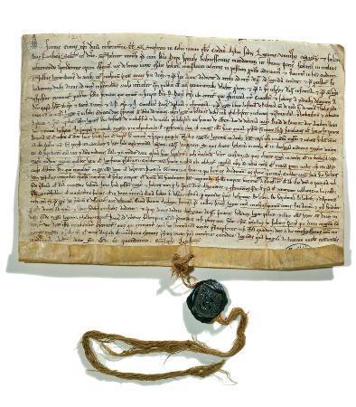 Premiers statuts de l'Université de Paris, août 1215. BIS, Réserve, Archives de l'Université, carton 7, D 10b