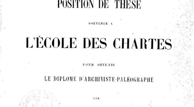La promotion 1900: un chantier du projet ThENC@
